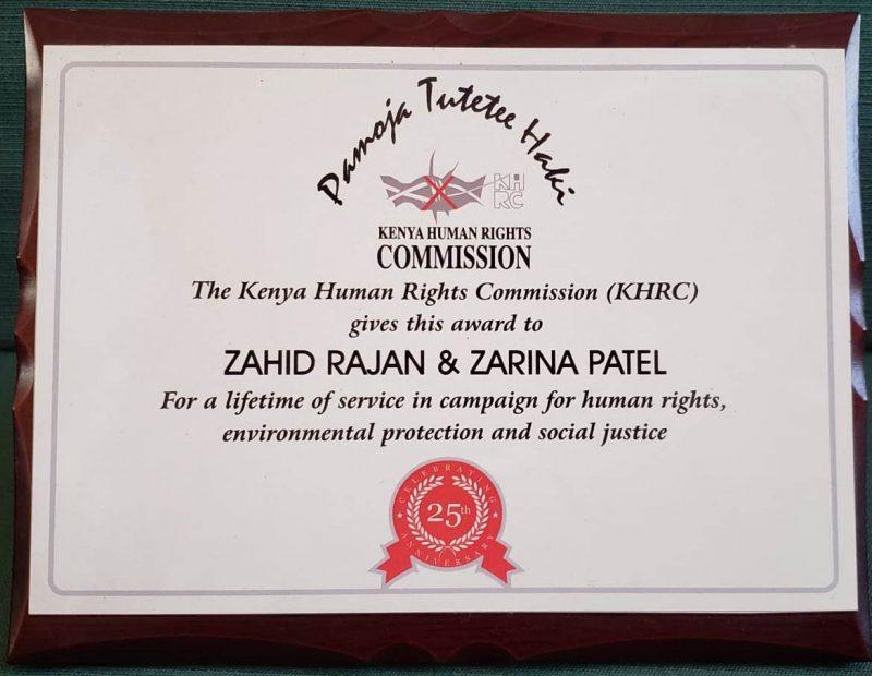 Awards Kenya Human Rights Commission